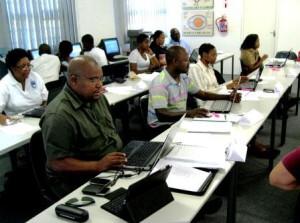 Vincent Ndlovu in class